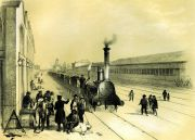 Champin-Rail-et-route-sur-le-Paris-Orleans-1843Formation-du-train-des-messageries